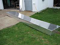 Stainless steel diamond plate unit for fire truck